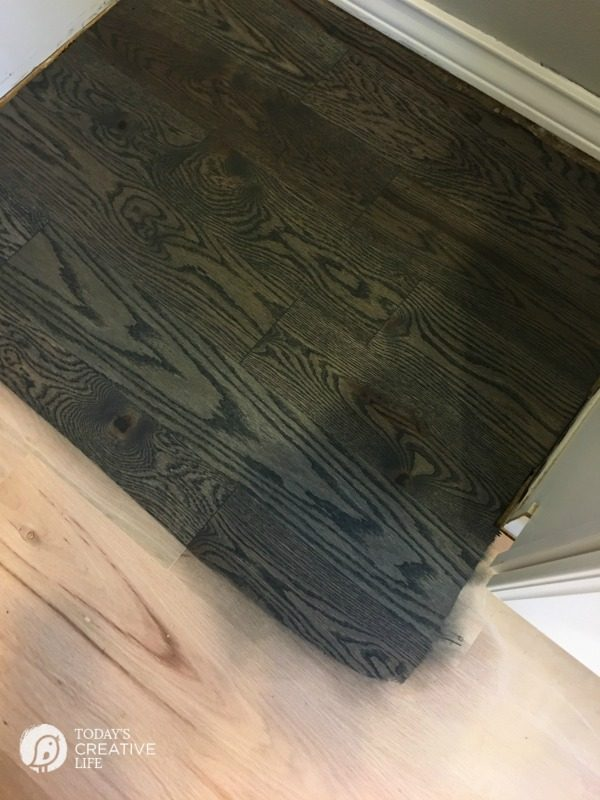 Freshly Stained Hardwood Flooring