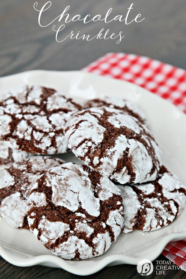 Chocolate Crinkle Cookies Recipe Today S Creative Life