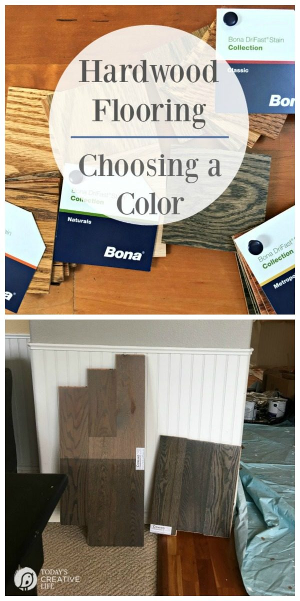 Hardwood Flooring - Choosing a Color | Installing or refinished hardwood flooring is exciting. Choosing the right color is your first step to a beautiful floor. Choose a Bona Certified Craftsman for a less toxic method. Read more on TodaysCreativelife.com #sponsored