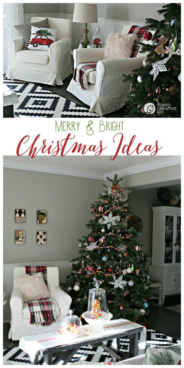 Decorating for Christmas | Find simple, stylish and inexpensive ways to decorate for the holidays. Traditional colors never looked so new! Find more on Today's Creative Life