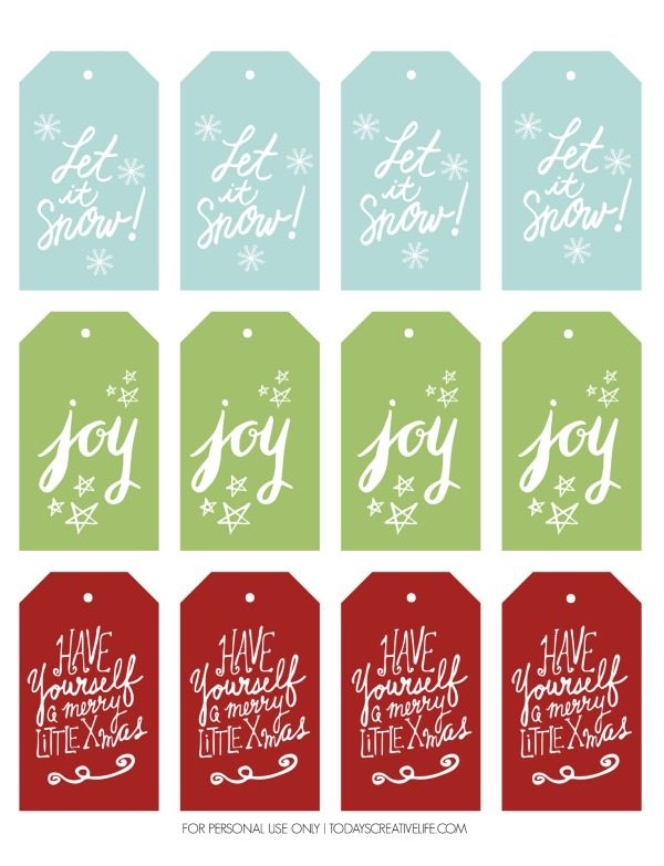 photograph relating to Free Printable Gift Tags Christmas titled Free of charge Xmas Present Tags Todays Resourceful Lifestyle