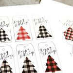 Buffalo Check Holiday Tags | Free printable Christmas gift tags are great for easy wrapping. They make any package perfect! Grab yours on TodaysCreativeLife.com
