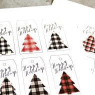Buffalo Check Holiday Tags