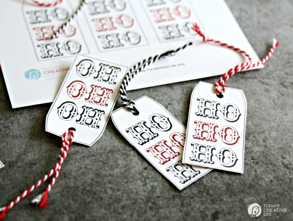 Ho Ho Ho Holiday Christmas Gift Tags on TodaysCreativeLife.com