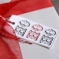 HO HO HO Holiday Gift Tags | Free Printable Christmas holiday gift tags for easy and creative wrapping ideas for you from Today's Creative Life.