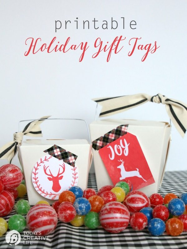 Free Printable Holiday Gift Tags | Beautiful watercolor Christmas gift tags | click the photo to download your own. TodaysCreativeLife.com