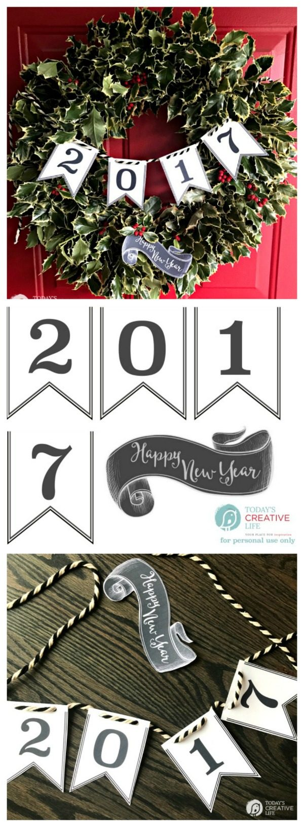 happy new year 2017 printable banner this free printable banner for new years eve makes