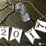 Happy New Year 2017 Printable Banner | This free printable banner for New Year's Eve makes it simple to decorate for NYE! Grab yours on Today's Creative Life.