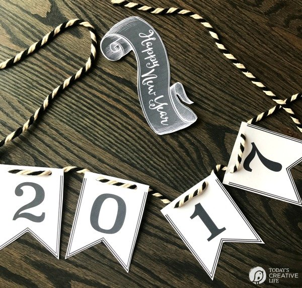 Happy New Year 2017 Printable Banner