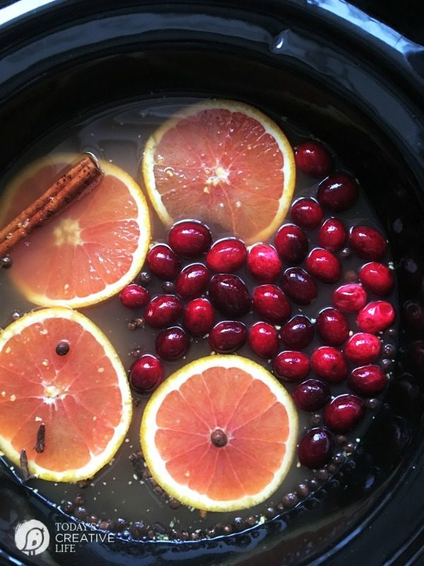 Slow Cooker Wassail Recipe | Looking for a Christmas recipe for a hot drink to serve a crowd? This easy holiday beverage can be spiked or not! See more on TodaysCreativeLife.com