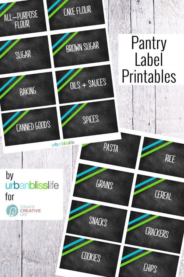image about Free Printable Organizing Labels titled Absolutely free Printable Pantry Labels Todays Inventive Lifetime