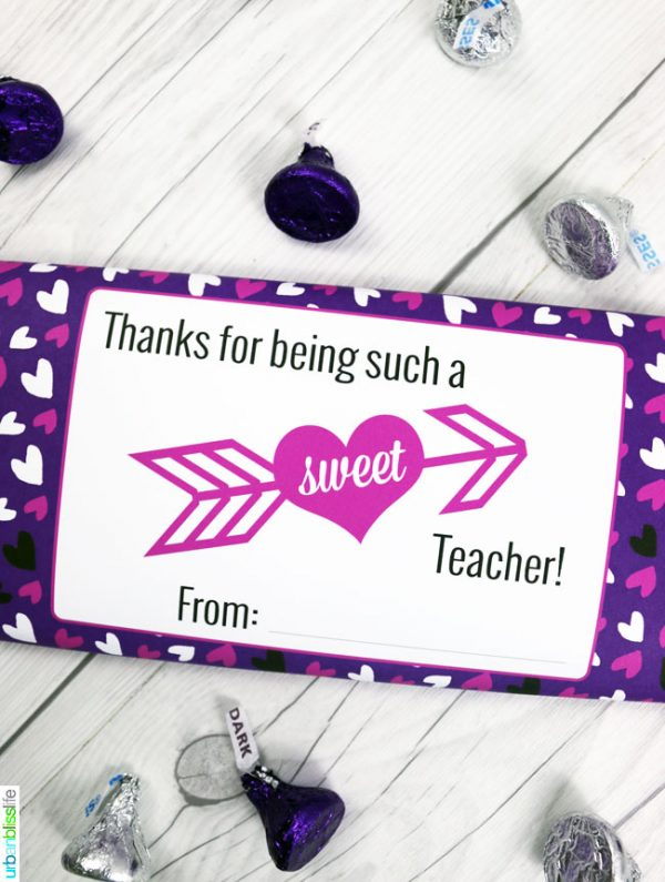 image relating to Printable Teacher Valentine Cards Free referred to as Valentines Sweet Bar Wrappers Cost-free Printable Todays