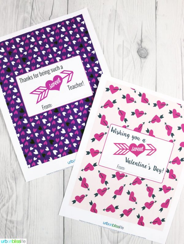 Valentines Candy Bar Wrappers | Download your Free printable Valentine idea for Valentine's Day. Designed by UrbanBlissLife for Today's Creative Life.