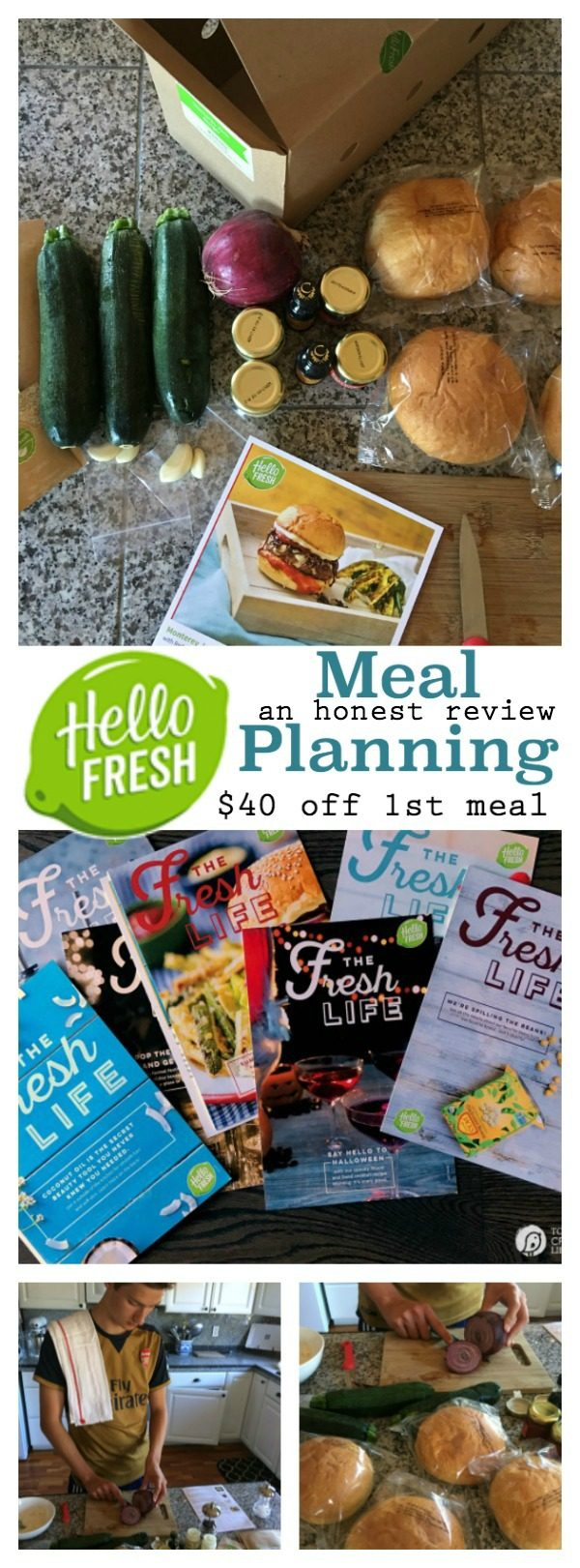 Hello Fresh Meal Delivery - An Honest Review | Meal plan delivery seems to be the trend. Find out my thoughts on Hello Fresh. This was a great way to get teen boys cooking in the kitchen!