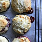 Sweet Raspberry Muffins Recipe | This muffin is great for breakfast or dessert! Using a baking mix for easy mixing, makes this recipe quick! Find the full recipe on TodaysCreativeLife.com