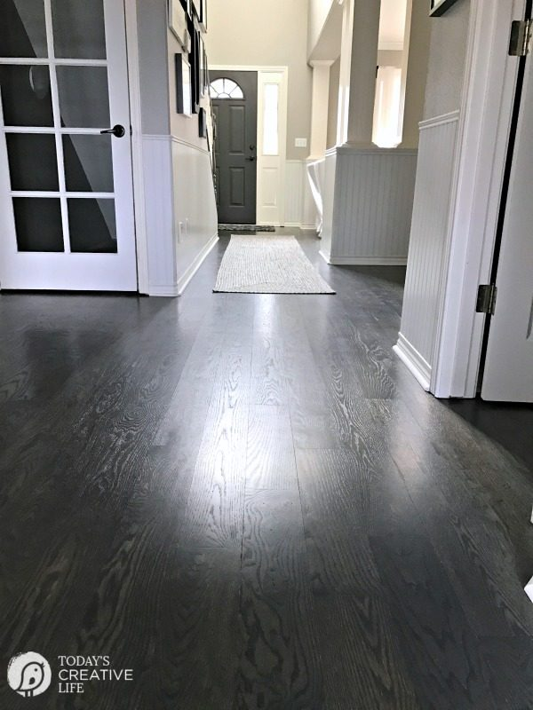 Eco-Friendly Floor Finish | Non-toxic, safe, water-based hardwood floor finish. Great for high traffic floors using the Bona floor finishing products. See more on Today's Creative Life Sponsored by Bona.