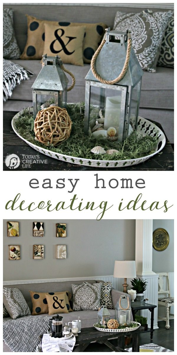 Easy home decorating ideas today 39 s creative life Cheap easy ways to decorate your home