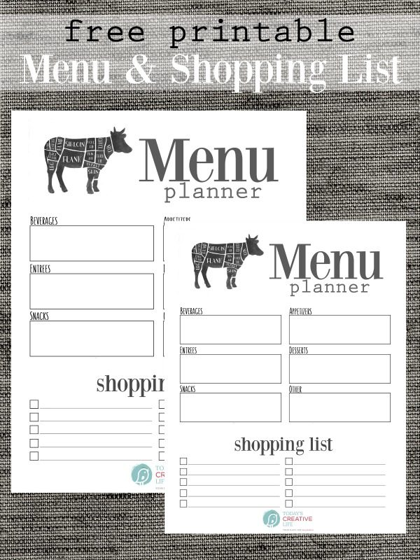 free printable menu planner today s creative life