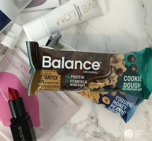 Birchbox | Monthly beauty box teaming up with Balance Bars for smart and nutritious snacking. #sponsored