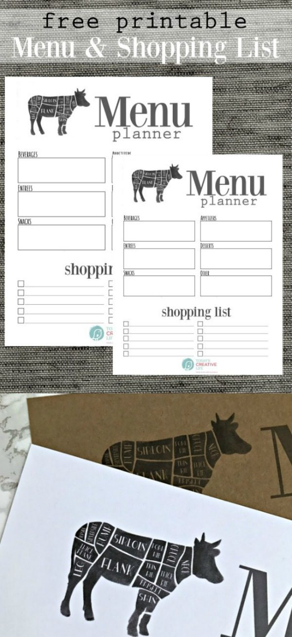 Free Printable Menu Planner  TodayS Creative Life