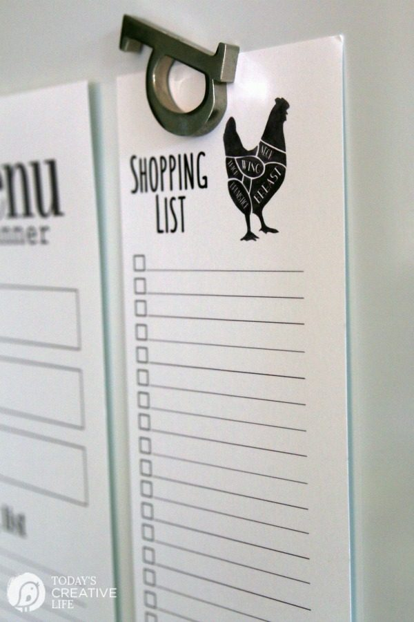 Printable Shopping List from TodaysCreativeLife.com