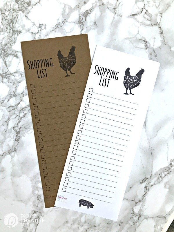 Printable Shopping List by TodaysCreativeLife.com