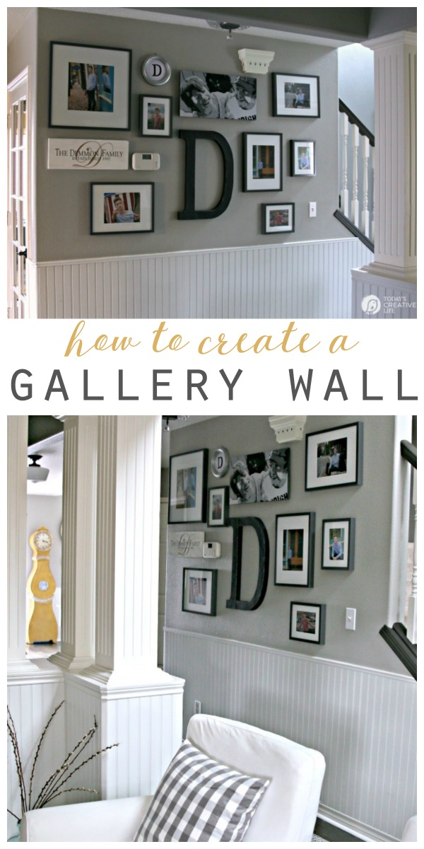 titled photo showing how to create a gallery wall
