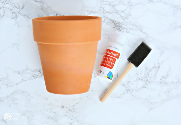DIY Distressed Gold Leaf Terracotta Pots | Distressing and aging terracotta pots