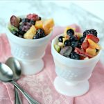 Fruit Salad Recipe | Enjoy this mixed fruit recipe with sour cream fruit salad dressing. Brunch recipe, summer salad recipe. TodaysCreativelife.com