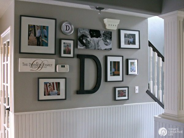 How to hang a picture Gallery Wall | TodaysCreativeLife.com