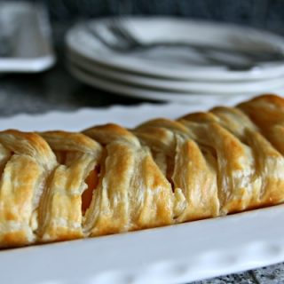 Puff Pastry Braid filled with fresh peaches