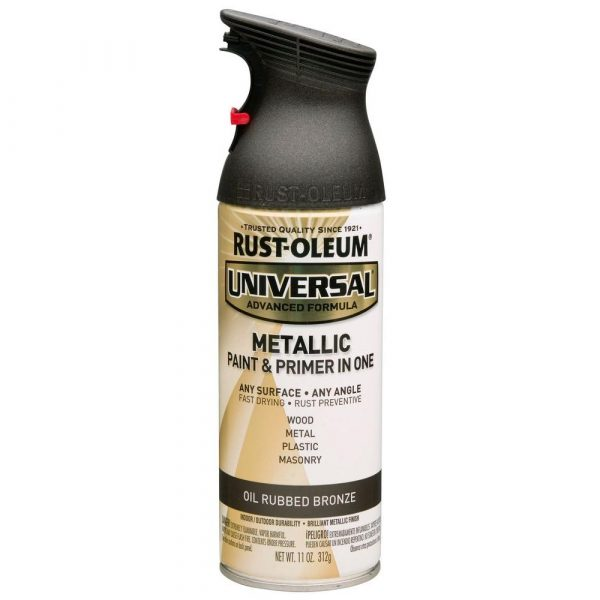 Rust-Oleum Universal Metallic Paint & Primer for spray painting door knobs. TodaysCreativeLife.com