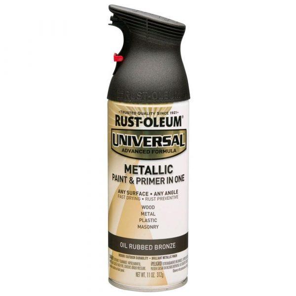 Rust Oleum Universal Metallic Paint U0026 Primer For Spray Painting Door Knobs.  TodaysCreativeLife.
