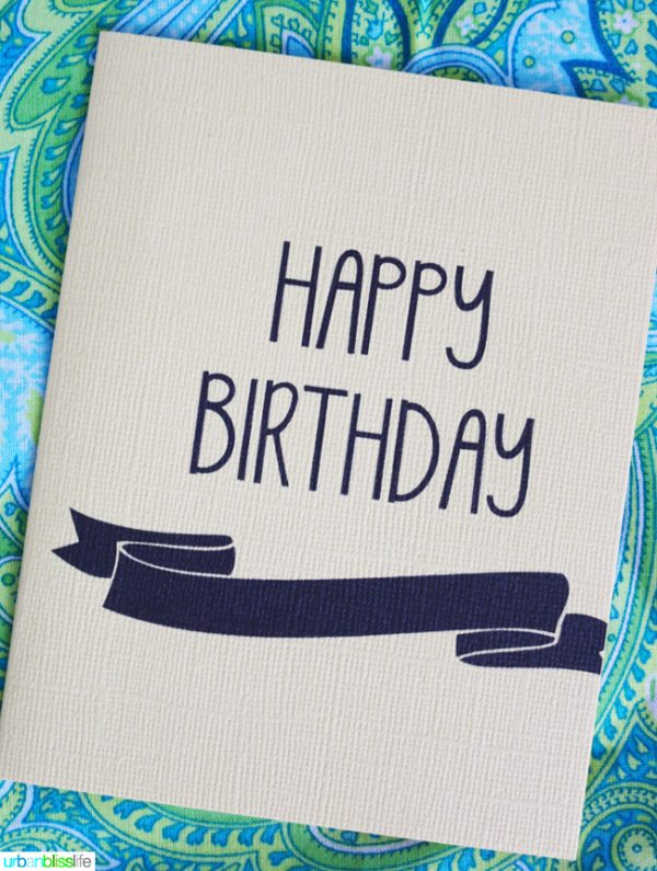 Printable Birthday Card with sans-serif font
