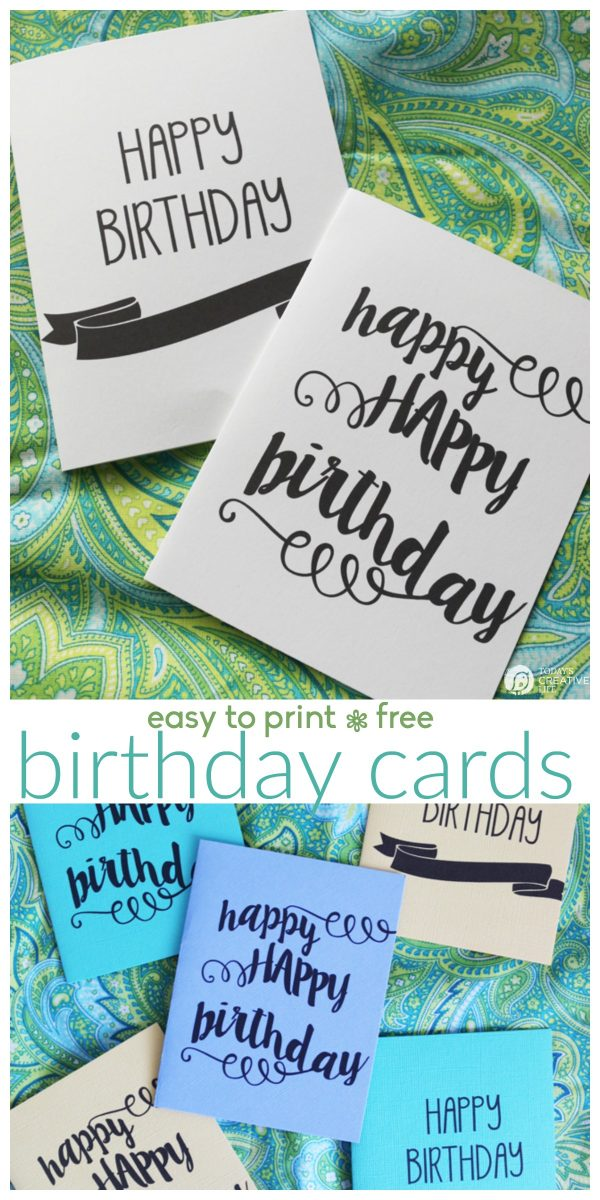 Printable Birthday Cards pinnable image