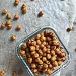 Roasted Chickpeas | Healthy, High Protein snacks. Make this crunchy snack spicy, sweet, savory or plain. Easy to make. Click the photo for the recipe. TodaysCreativeLife.com
