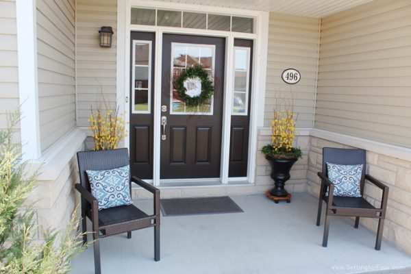 DIY Entry Way Decorating by Setting for Four