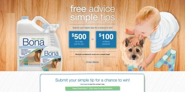 Bona Floors Simple Tips Contest