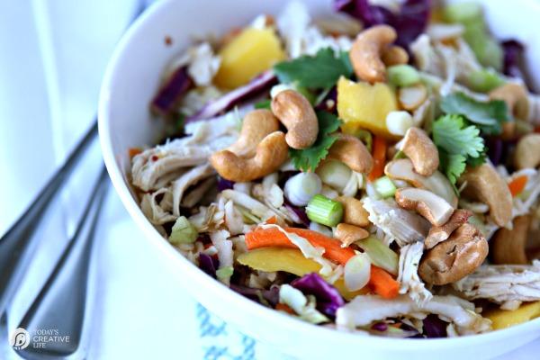 Mango Chicken Salad with Cashews