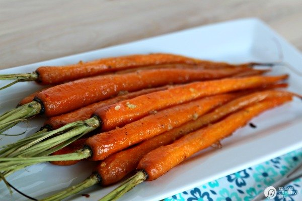 Honey Roasted Carrots with Garlic