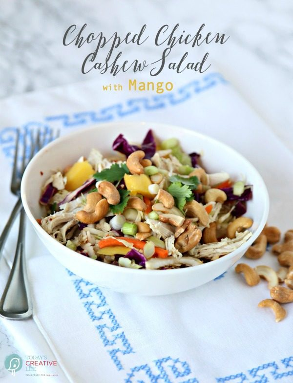 Mango Chicken Salad with Cashews | Todayscreativelife.com