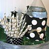 High School Graduation Party Ideas | How to Make Grad Hat Straws | TodaysCreativeLife.com