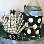 High School Graduation Party Ideas | How to Make Grad Hat Straws | TodaysCreativeLife.com