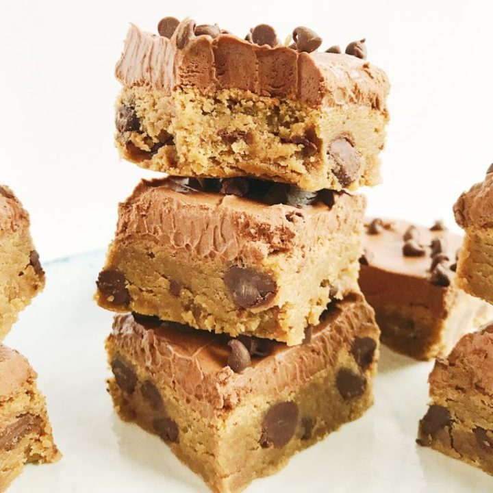 Peanut Butter Brownies with Fudge Frosting