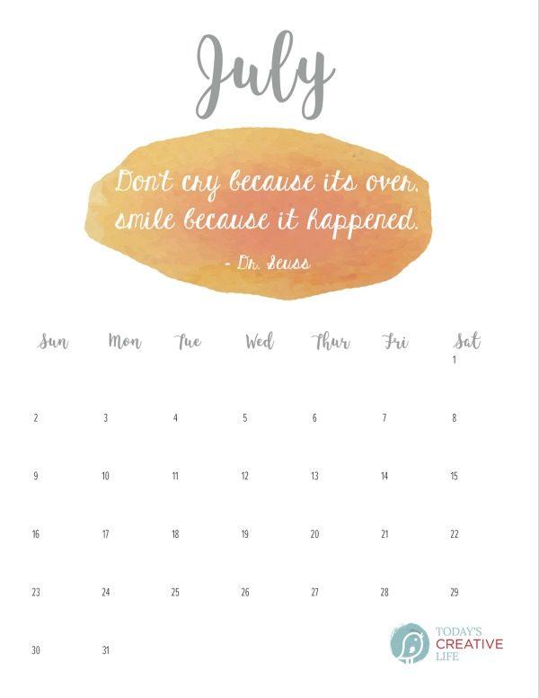 Printable 2017 July Calendar