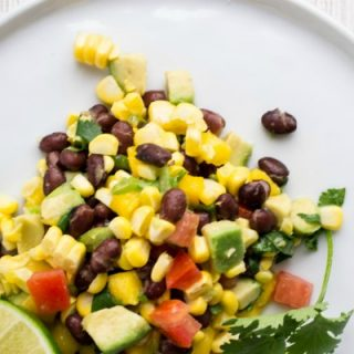 Mexican Black Bean and Corn Salad   Easy Summer Salads and side dish recipes   Fresh Mango, Avocado, tomatoes   WanderSpice.com for TodaysCreativeLife.com