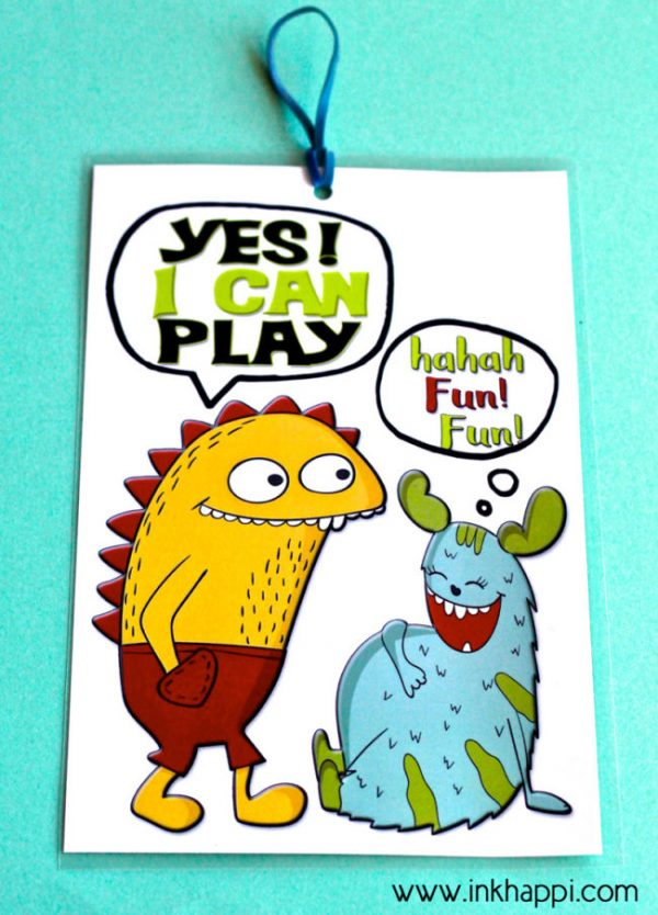 Printable Playtime Door Signs | Free Printables | Parenting Printables | We can Play Printable | inkhappi.com for TodaysCreativelife.com
