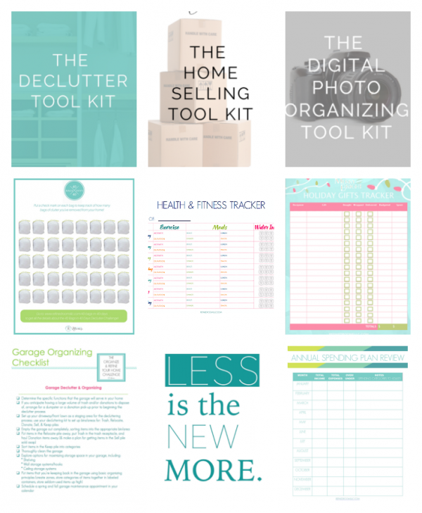 Downloadable Printables for staying organized from Refined Rooms