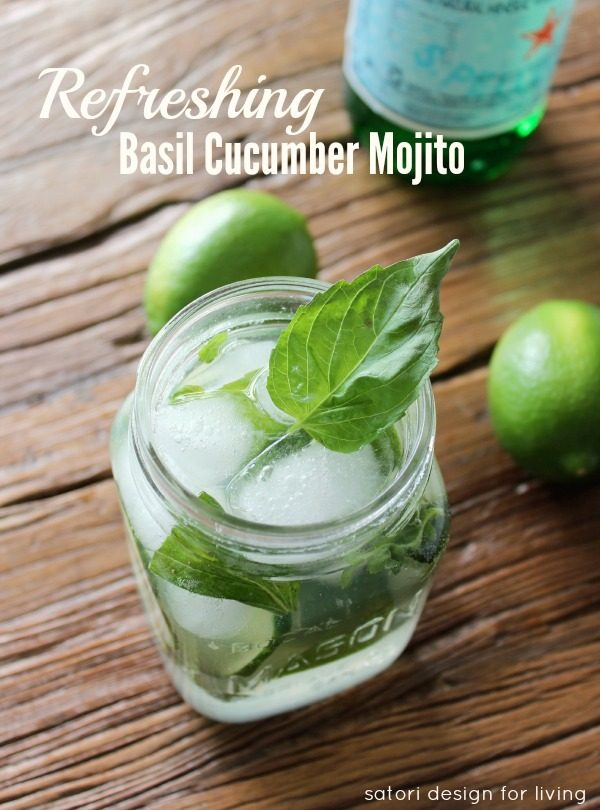 Basil Cucumber Mojito Cocktail from Satori Design for Living.