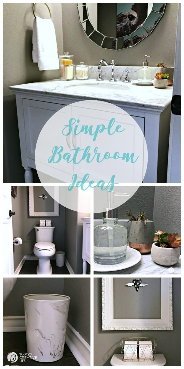 titled photo collage: Simple Bathroom Ideas